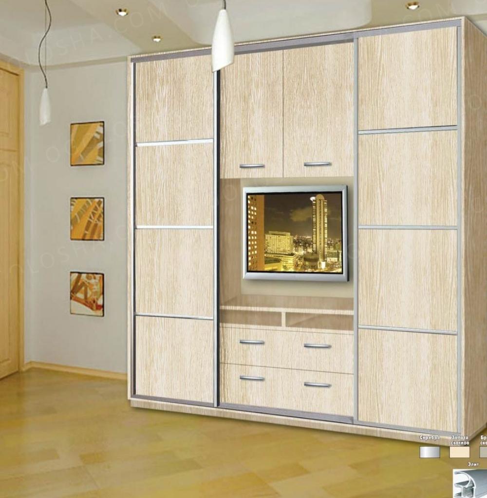 Шкаф купе с нишей(местом) под телевизор тв. дсп...: 4 200 гр.