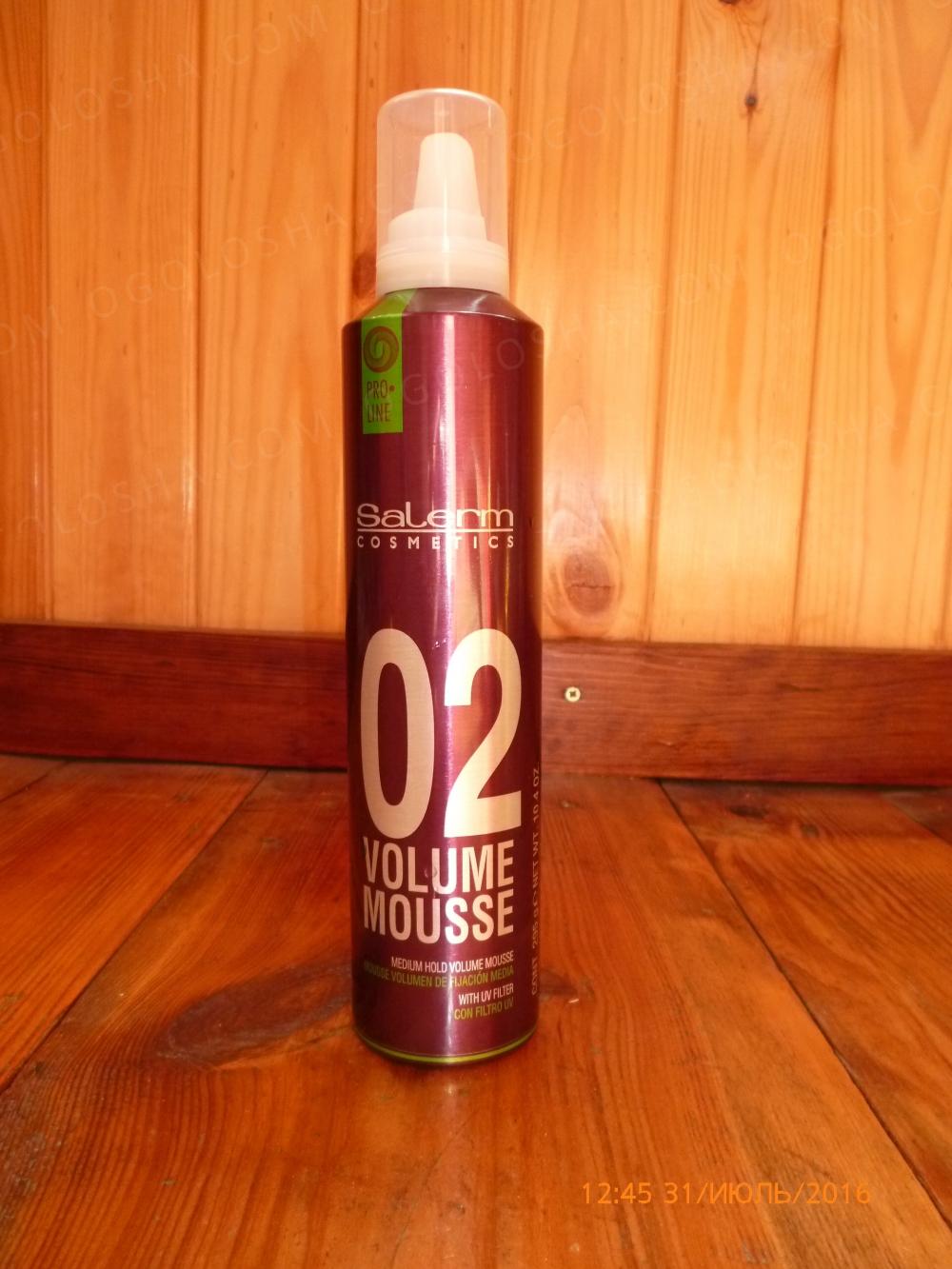 Продаю мусс объем для укладки волос Salerm Pro Line Volume Mousse