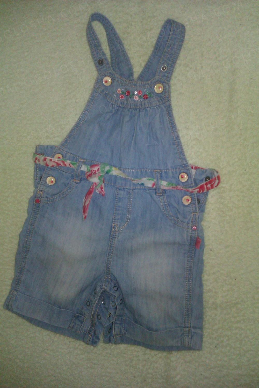 Красивый джинсовый комбинезон для девочки Sergent Major 71 см 9 месяцев