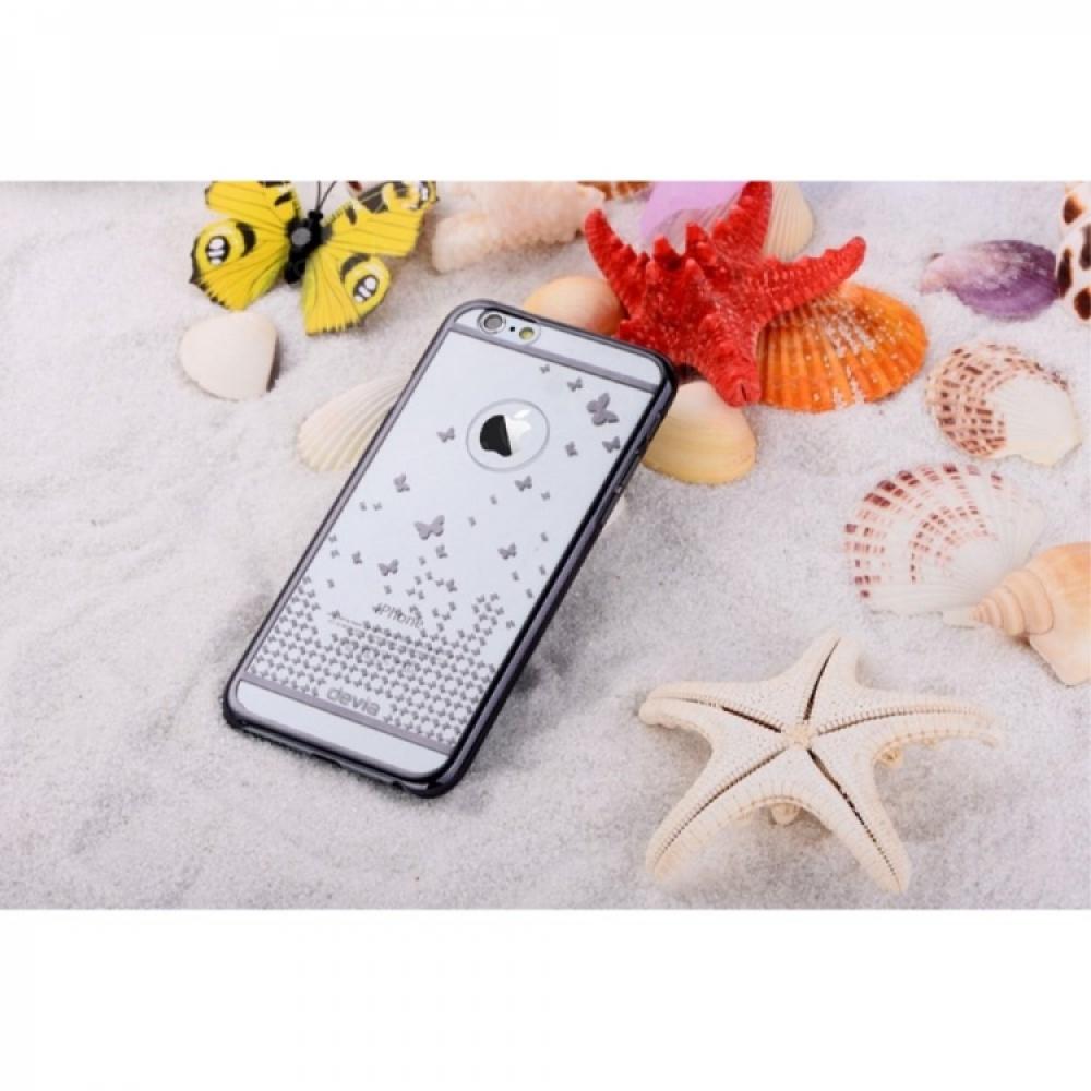 Стильный Чехол Devia Black с бабочками для на Айфон iPhone 6/6S