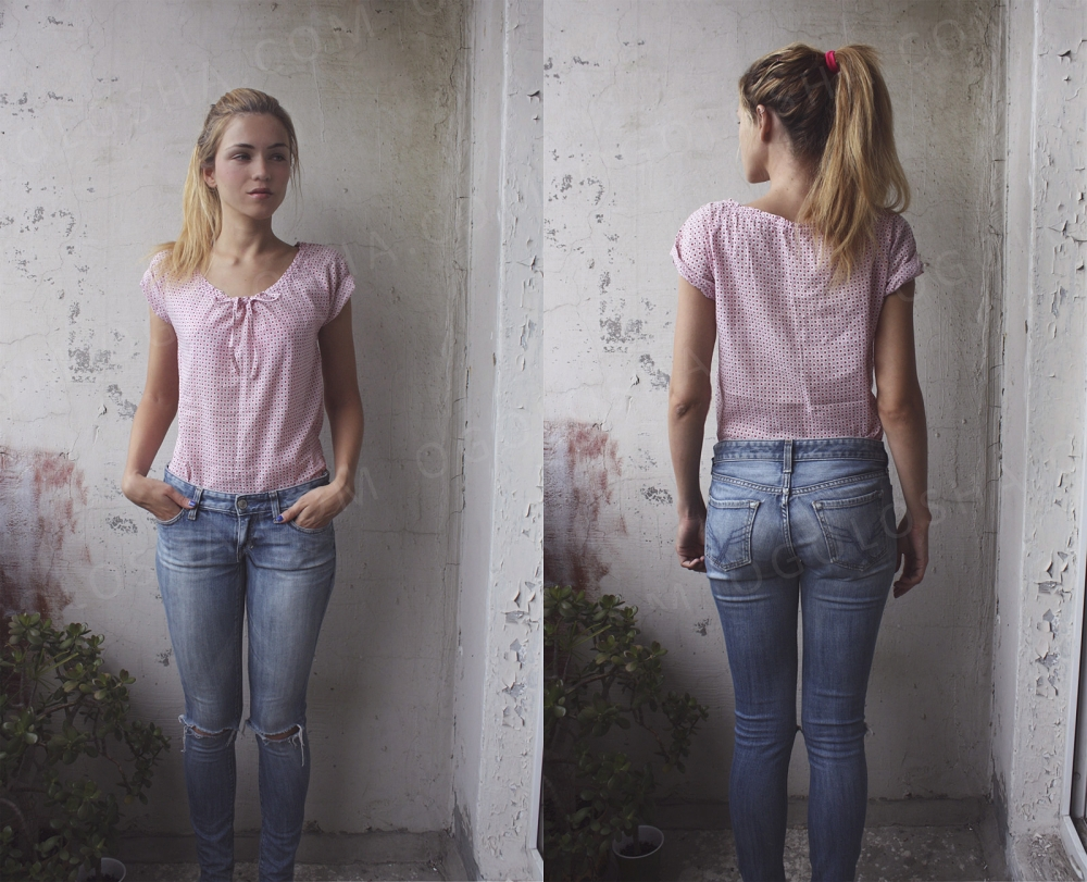 Нежная блуза из тонкого батиста