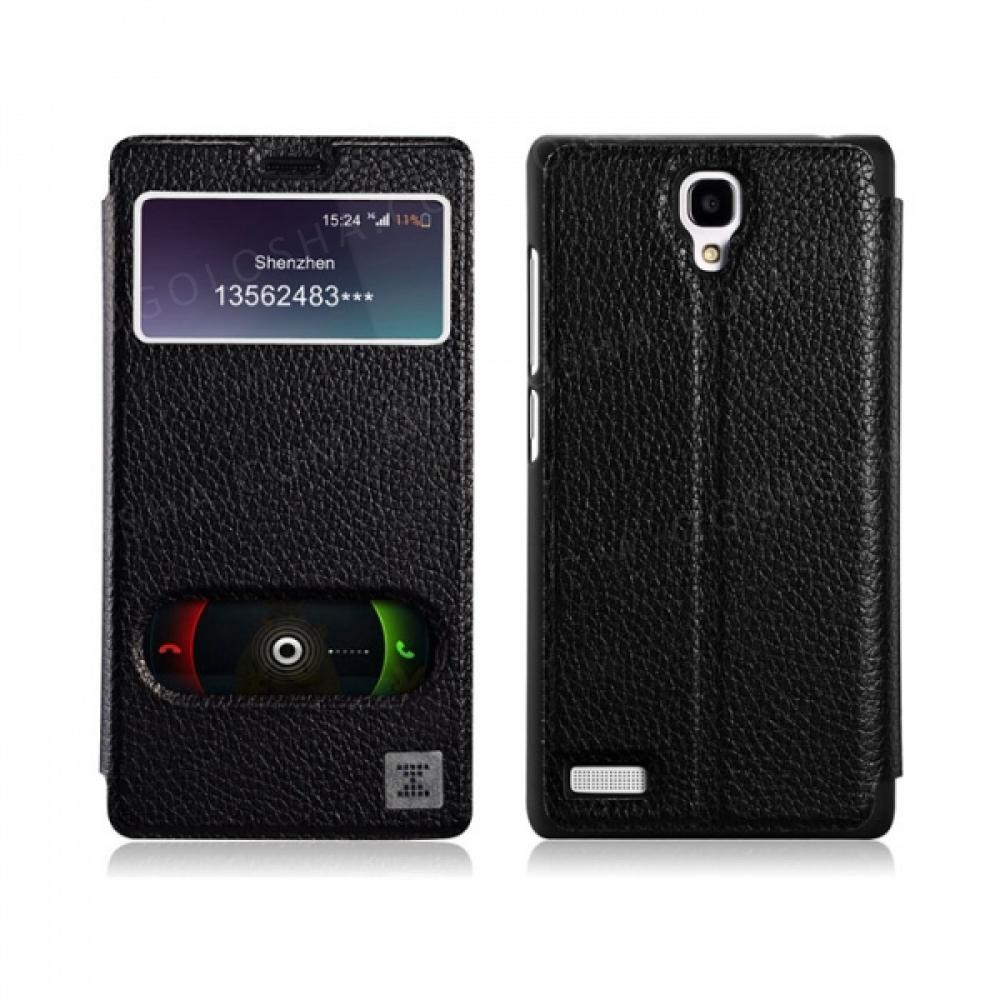 Кожаный чехол с активным окном но без магнита Чехол Xoomz Leather для на Xiaomi Mi Note
