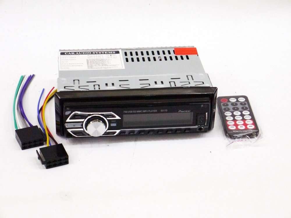 Pioneer 6317D - MP3 Player, FM, USB, SD, AUX - RGB подсветка СЪЕМНАЯ