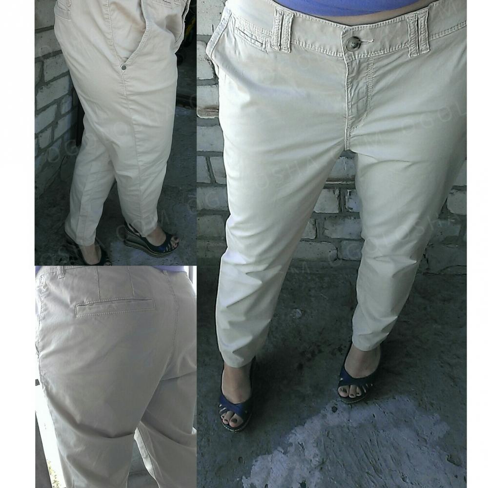 Бежевые легкие брюки esprit