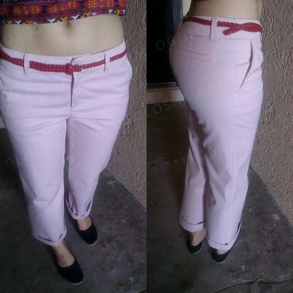 Светло розовые укороченные брюки, кюлоты Esprit