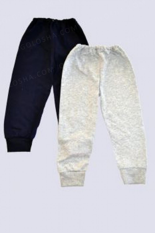 Детские брюки из серого начеса