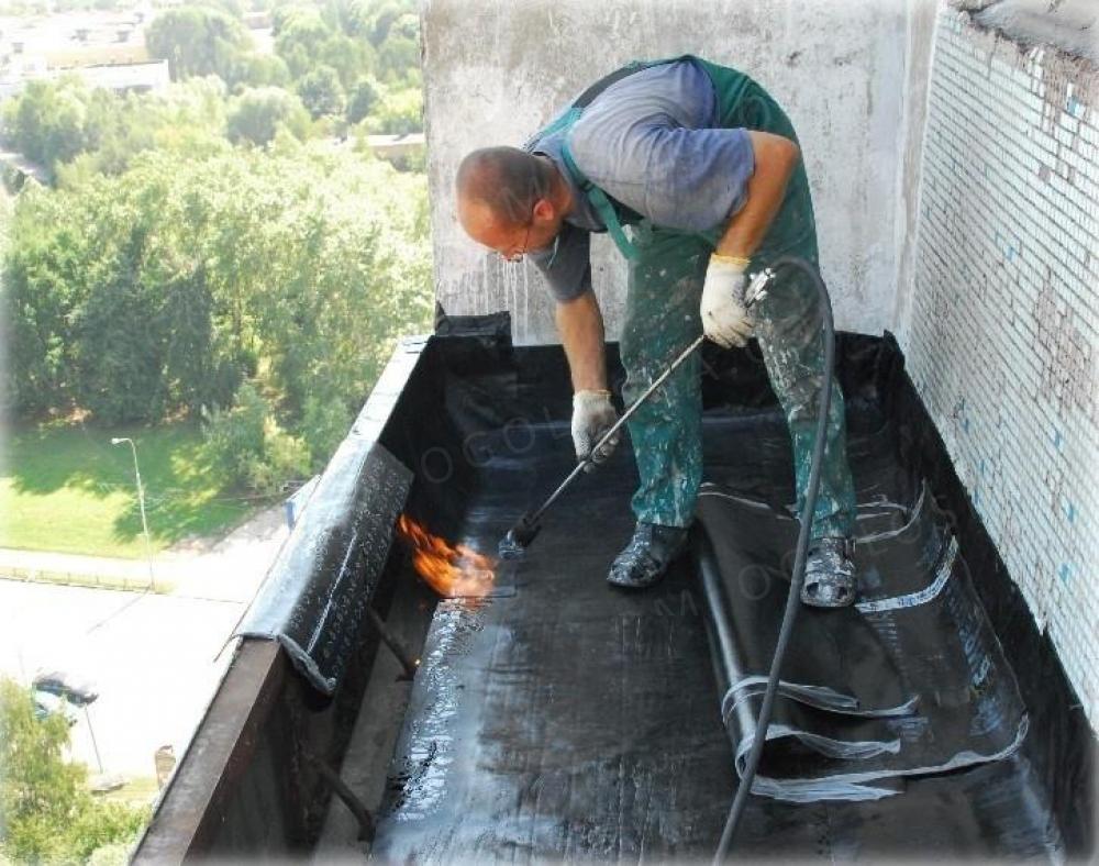 Наружный ремонт крыши балкона. - дизайн маленьких лоджий - к.