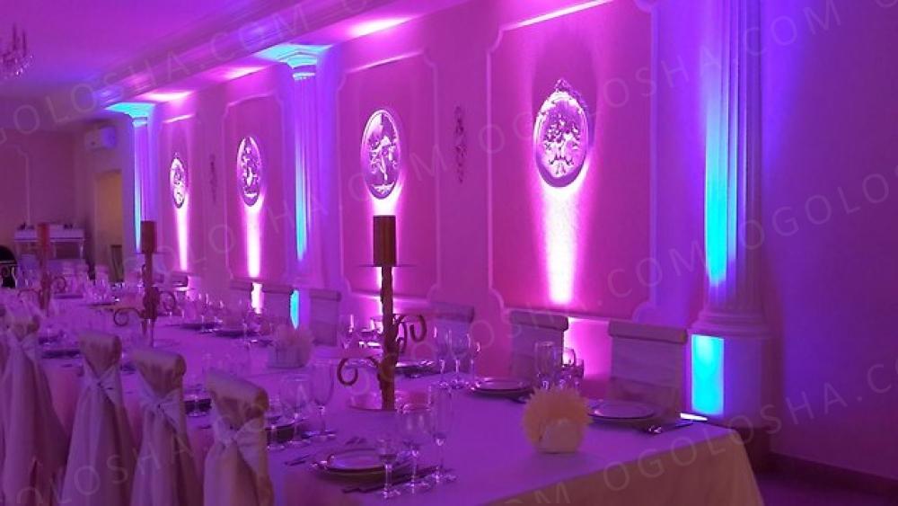 какая подсветка используется на свадьбе характеристиками, среди приборов