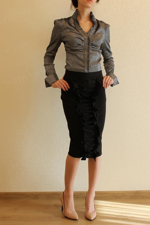 Нарядные блузки для школы и офиса S