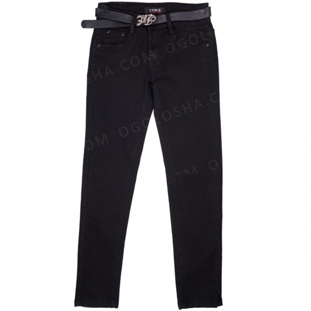 Катоновые штаны девочке в школу ТМ Yuke