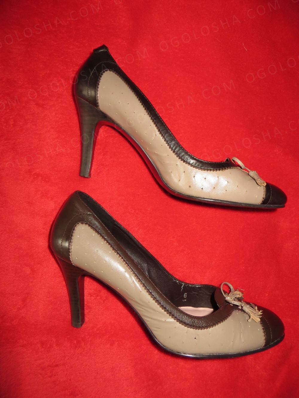 Туфли кожа MARKS&SPENSER 39,5, каблук 9см. Отл сост.