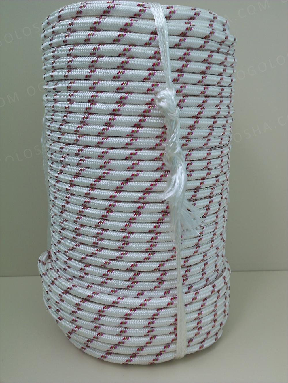 Веревка полиамидная статическая диаметр  8 мм (репшнур, шнур; 40 класс)