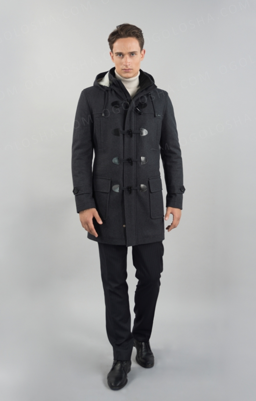 Мужское зимнее пальто Sun's House А,K-099 (Duffle Coat)