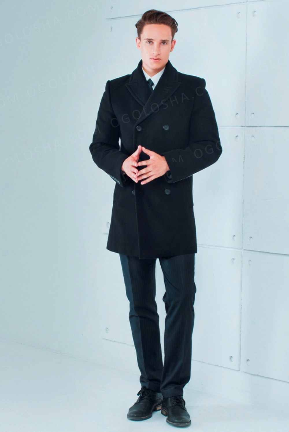 Мужское демисезонное пальто Sun's House S,Т-441 (Сенатор)