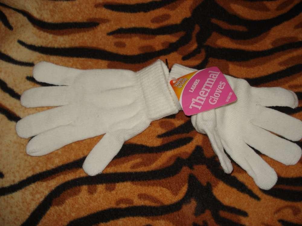 """Перчатки белого цвета""""thermal gloves""""р.s-m"""