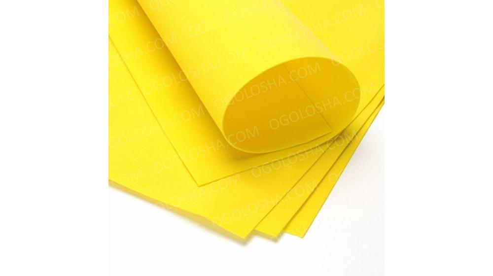 Фоамиран иранский светло-желтого цвета, 60*70