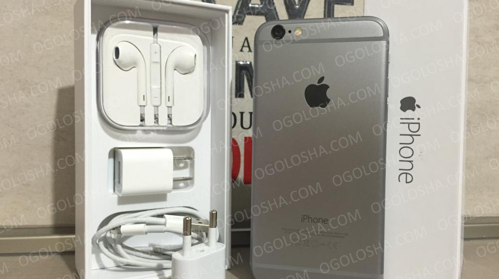 IPhone 6 16gb Space Grey Neverlock 5++, полный комплект!