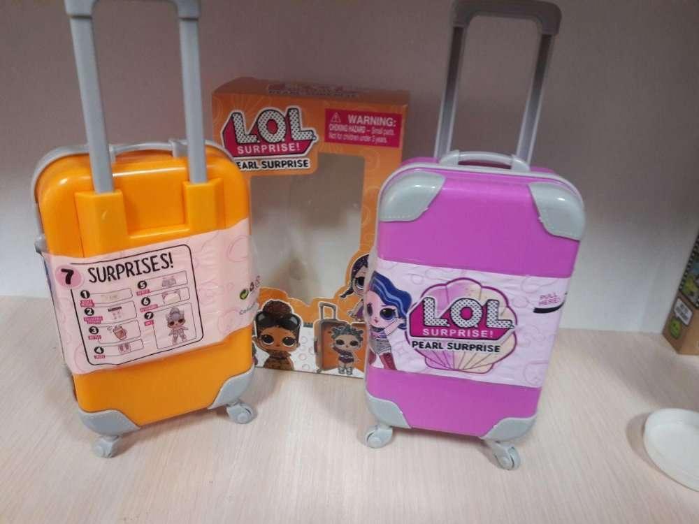 Акция! LOL Surprise Дорожный чемодан + ПОДАРОК! Кукла ЛОЛ в чемодане