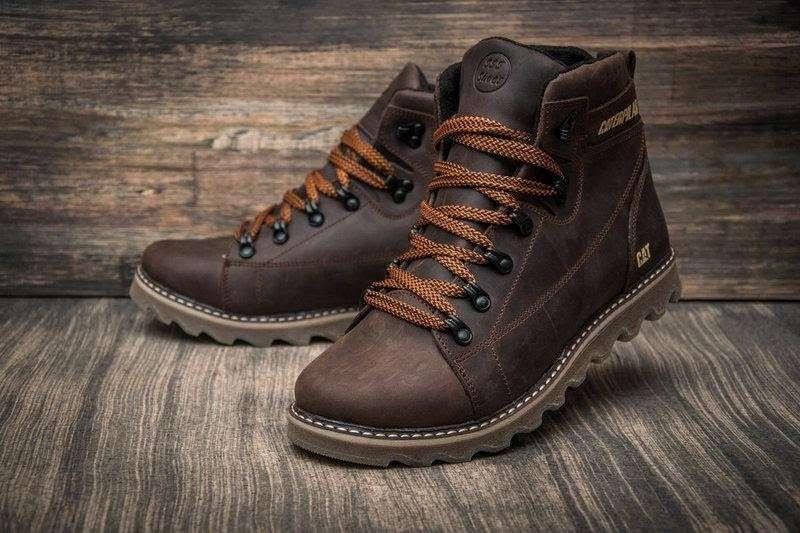 Мужские зимние кожаные ботинки зимове взуття CAT  1 150 грн - Мода и ... 9ab90dddd5f16