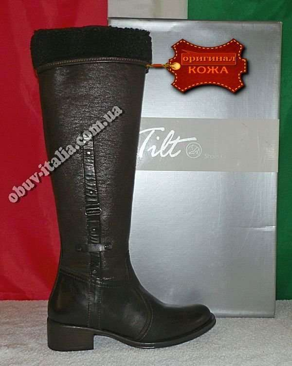 Сапоги женские кожаные фирмы Tilt производство Италия