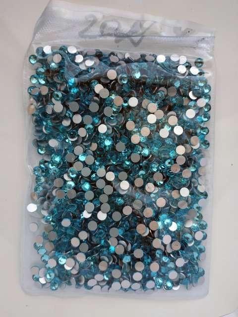 Стразы холодной и горячей фиксации SS20 Aquamarine Crystal Elements
