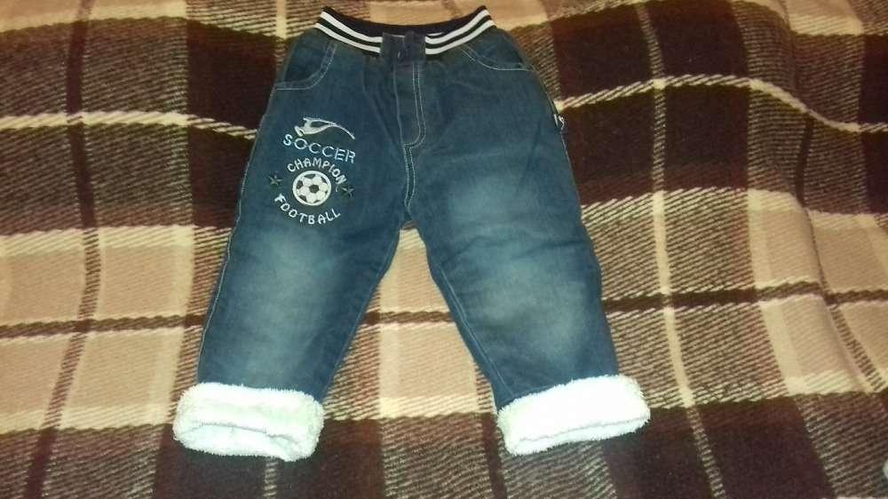 Штаны (джинсы) зимние, 2-3 года, Турция.