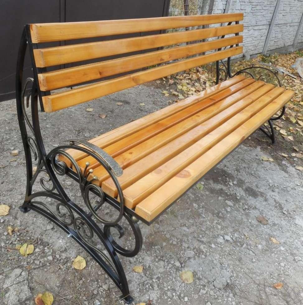 Кованая разборная садовая скамейка