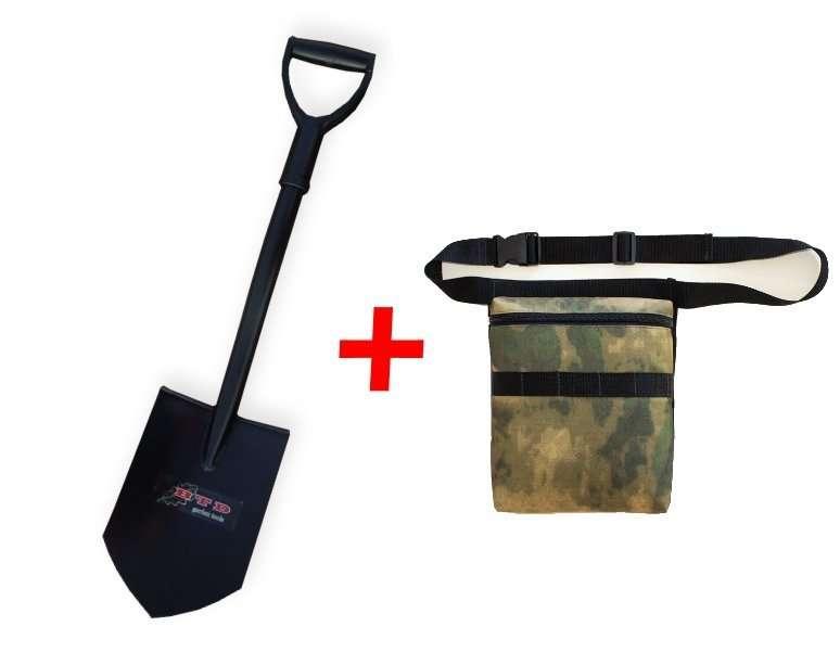 Лопата саперка BTD 83 см +Сумка для находок с подкладом