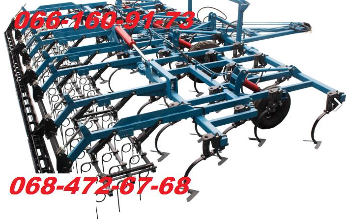 Широкозахватный культиватор КГШ-8.4 с боронами и катком