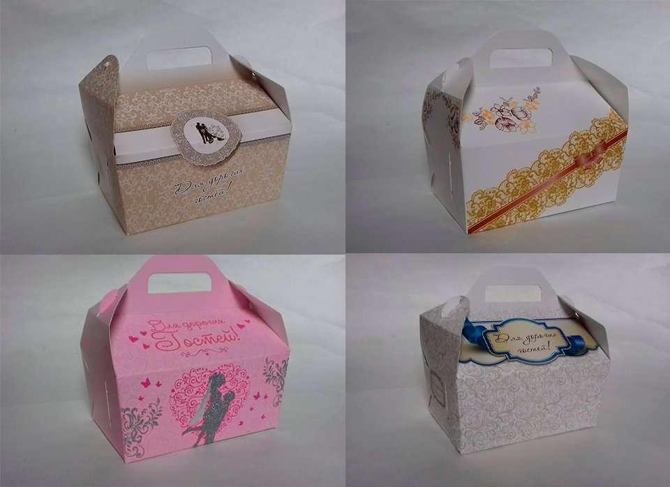 Коробки для солодкого, корова, торта, шишки, пляцок