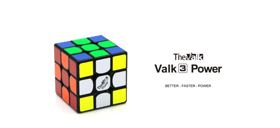 Кубик Рубика The Valk 3 Power M black | Валк 3 магнитный - Кубик Рубик