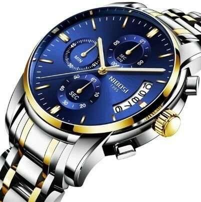 Nibosi 2309 кварцевые мужские часы со стальным браслетом