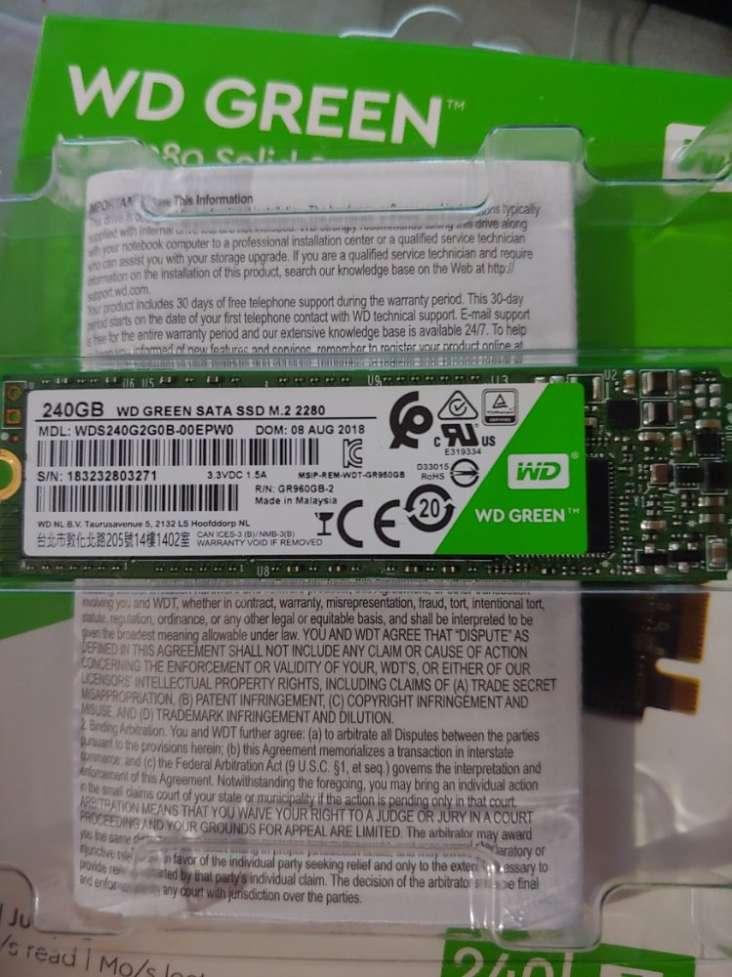 SSD M2 sata3 WD green 240Gb