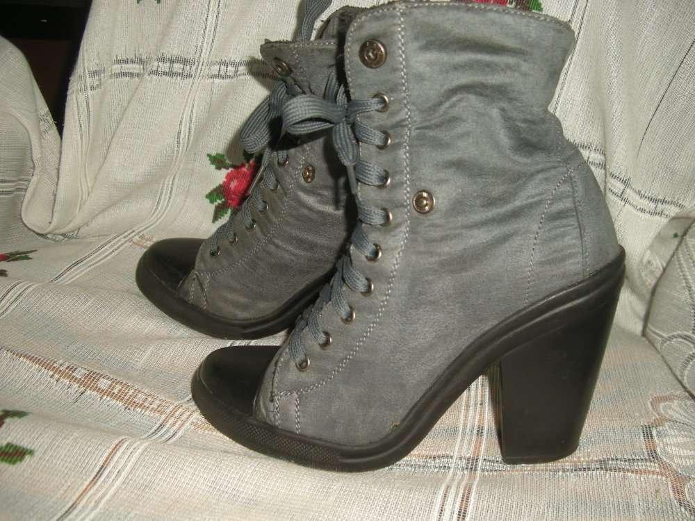 Супер ботинки серого цвета,р.4