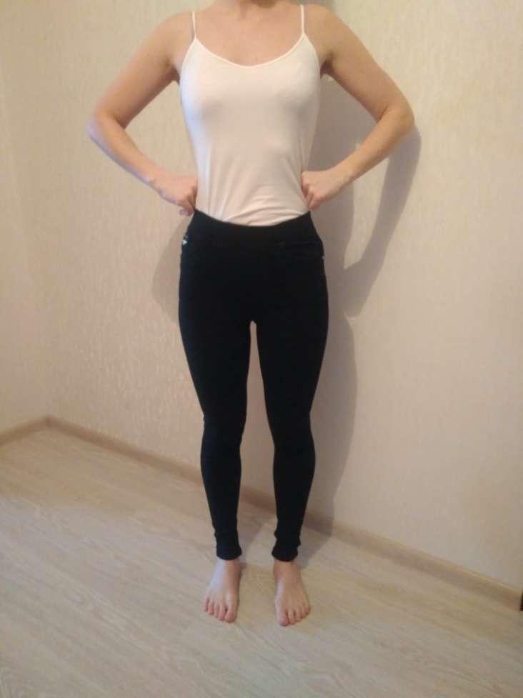 Черные штаны-лосины, флис