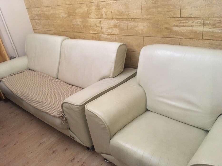 Шкіряний диван Cheers і два крісла