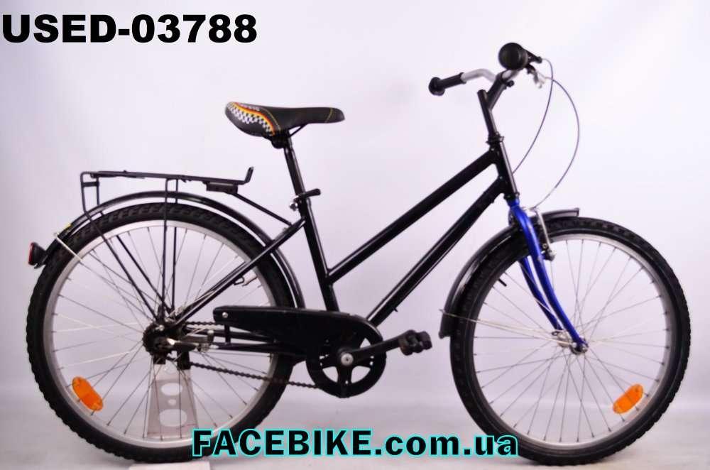 БУ Подростковый велосипед Black-Гарантия,Документы-у нас Большой выбор