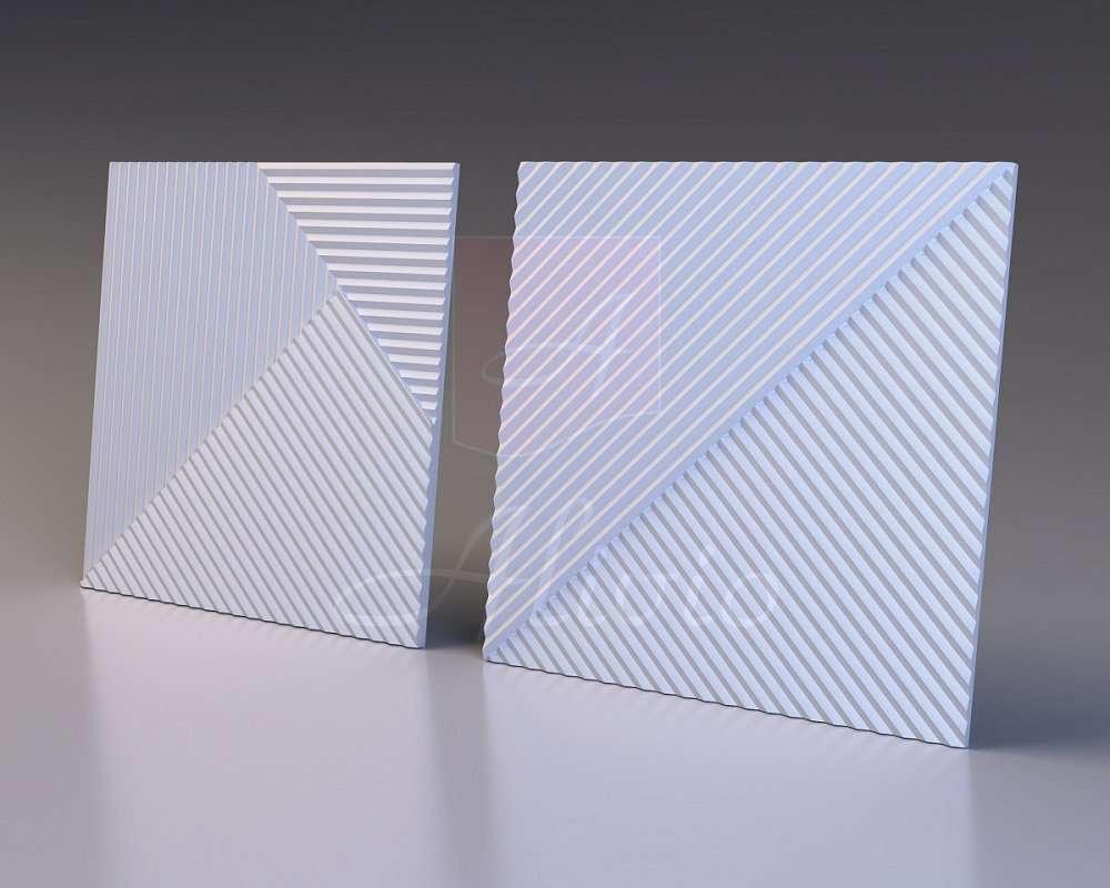 Гипсовые 3D панели Alivio серия Stripes от производителя