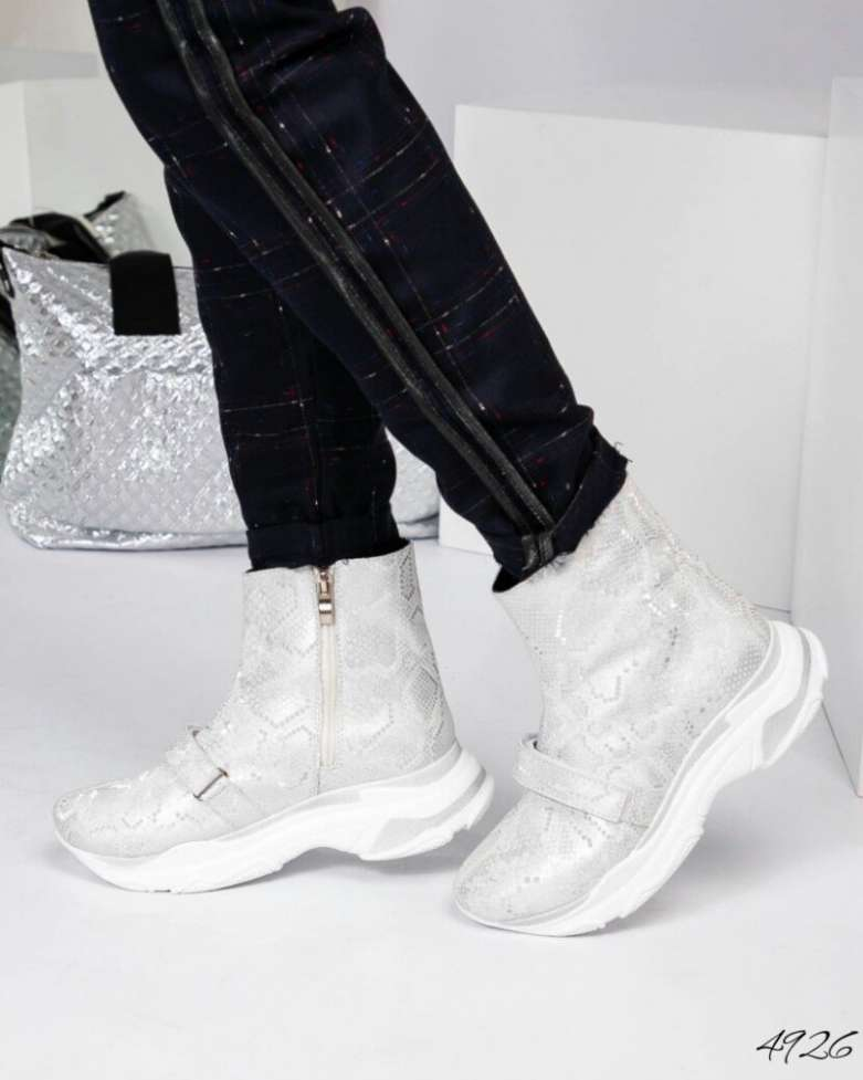 Код 4926 Спортивные  ботинки   Верх: Натуральная кожа под рептилию Вну