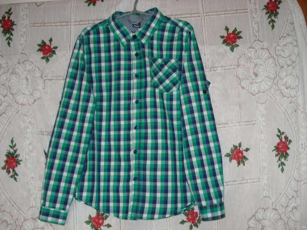 Супер рубашка в яркую клетку,100%коттон,12 лет.