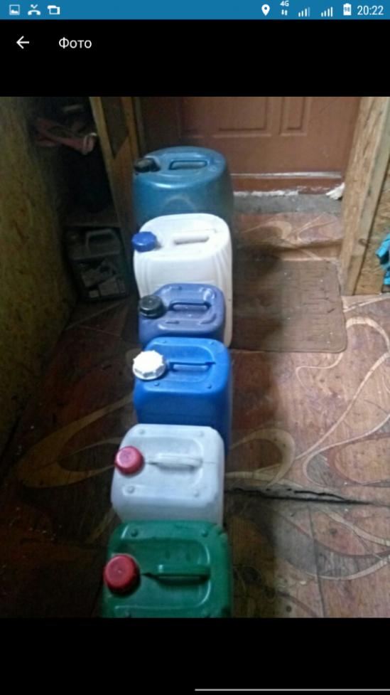 Канистры пластиковые бу