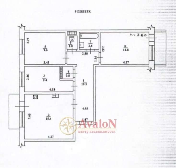 Продам 3 ком квартиру на Заболотного возле Семьи