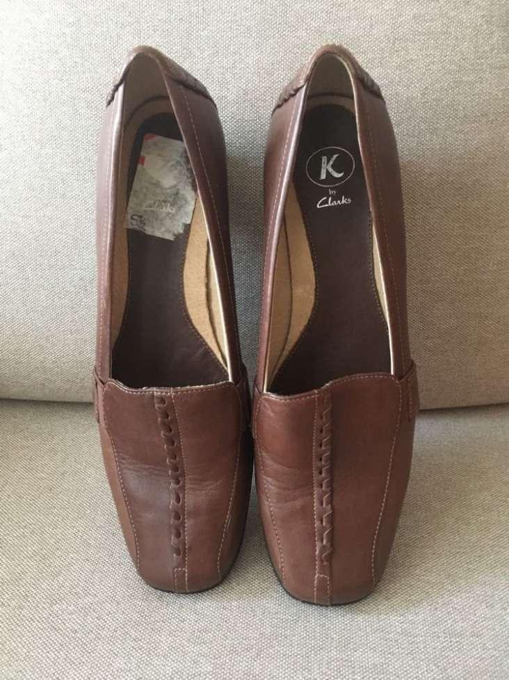 Туфли кожаные, коричневые Clarks