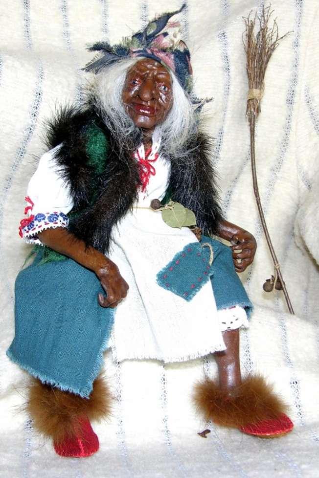 Авторская кукла Баба Яга.