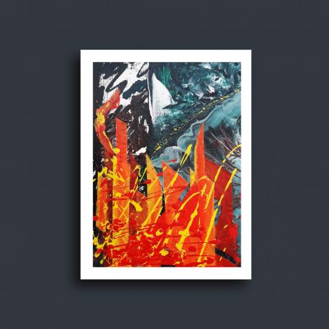 """Продам картину абстракцію """"Кольори осіннього міста"""" (2018)"""