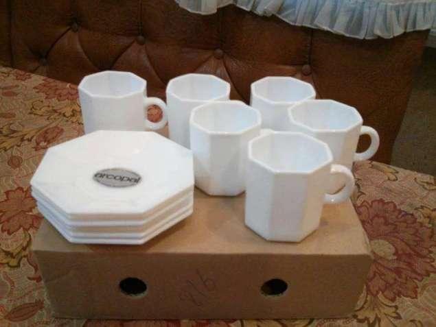 Кофейный набор белый 6 персон