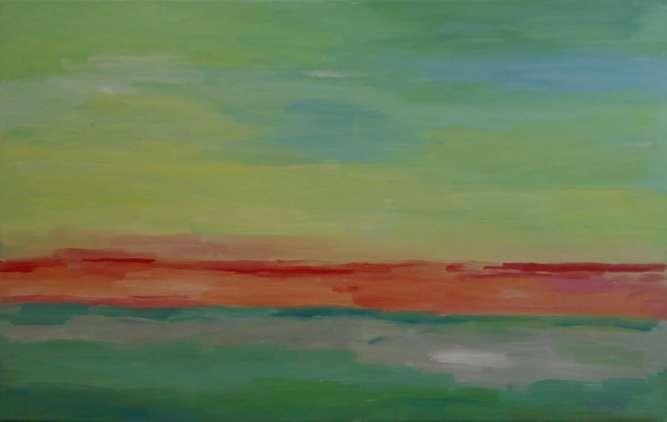 "Картина ""Красная дорога"". Абстракция."