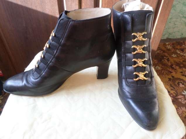 Ботинки женские кожаные.