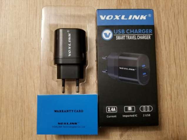 Зарядное Voxlink, 5В/4.8А (2.4А+2.4А), оригинал, честные параметры.