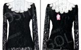 Блузка гипюровая с цветочным принтом